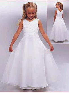 Custom Made Girls white dresses.