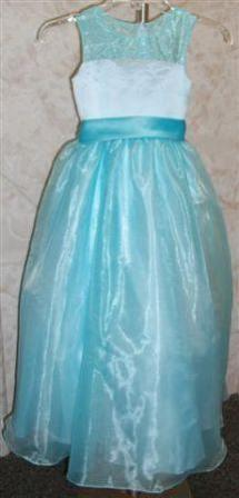 pool blue Clearance flower girl dress