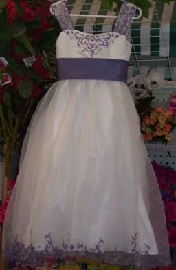 ivory with victorian lilac junior dress