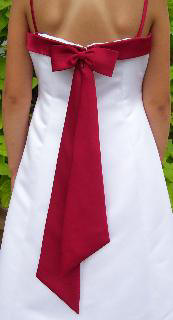apple red dress sash
