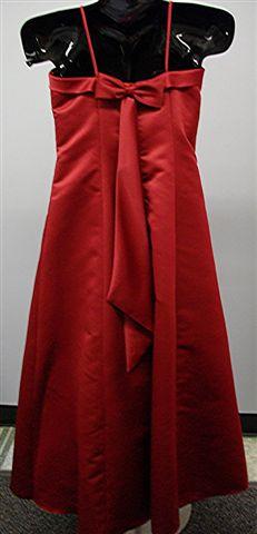 Satin Dress on White And Apple Red Satin Flower Girl Dress