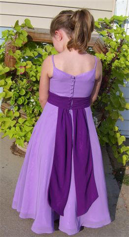 purple and lavender chiffon bridesmaid dresses