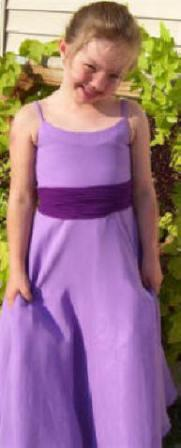 lavender flower girl dress
