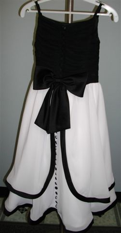 Flower Girl Dresses in Black and White