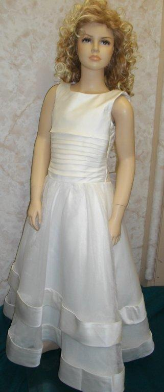 satin organza flower girl dress