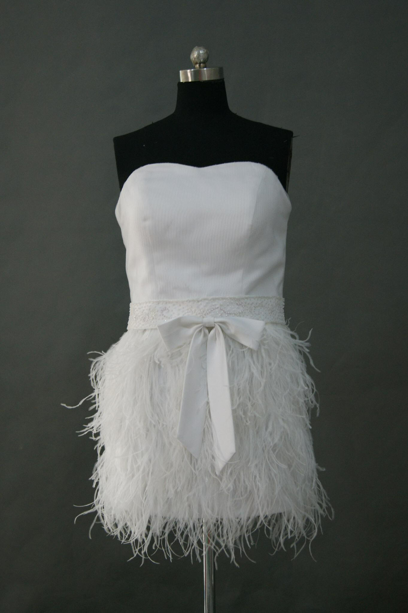 mini feather dress