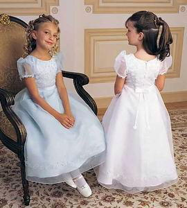 white & ivory dresses for flower girls