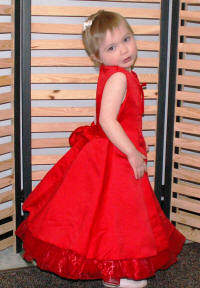 red flower girl dress $25