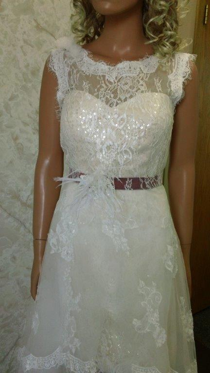 Wedding Dress With Detachable Illusion Skirt Train