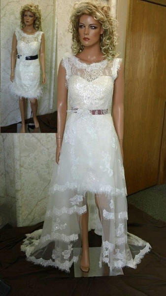 wedding dress with detachable skirt