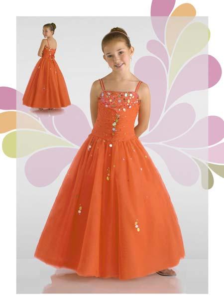 Girls Orange Dresses