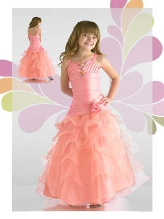 organza little girl pageant dress