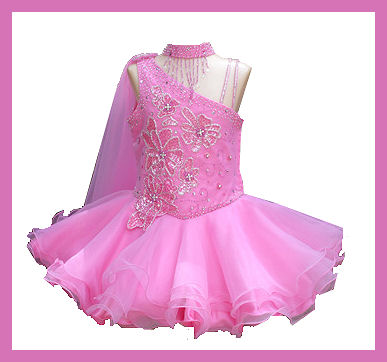 pink baby beauty pageants dress