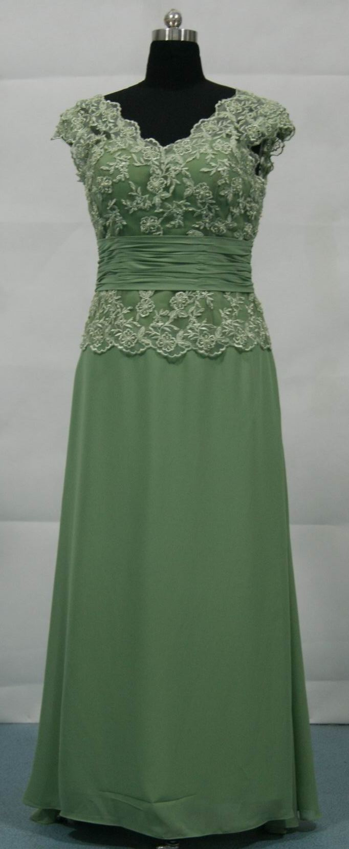 Sage Green Mother of the Bride Groom Dress