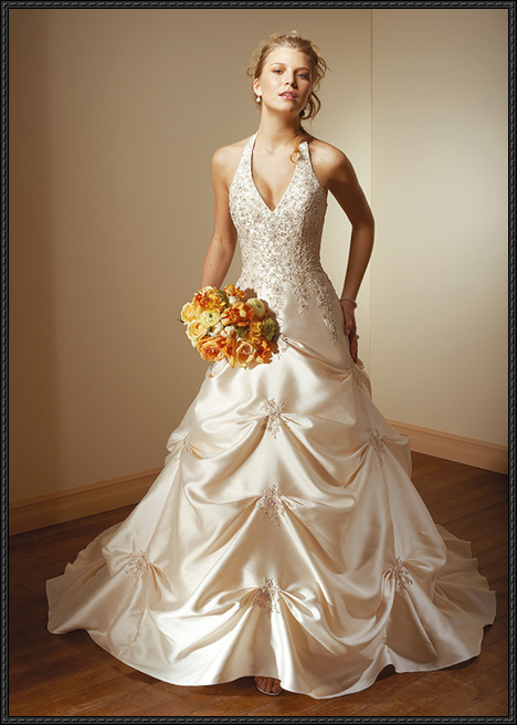 halter wedding gown