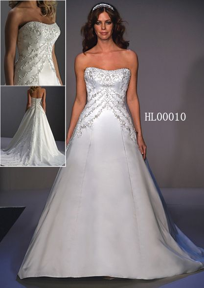 slender wedding gown