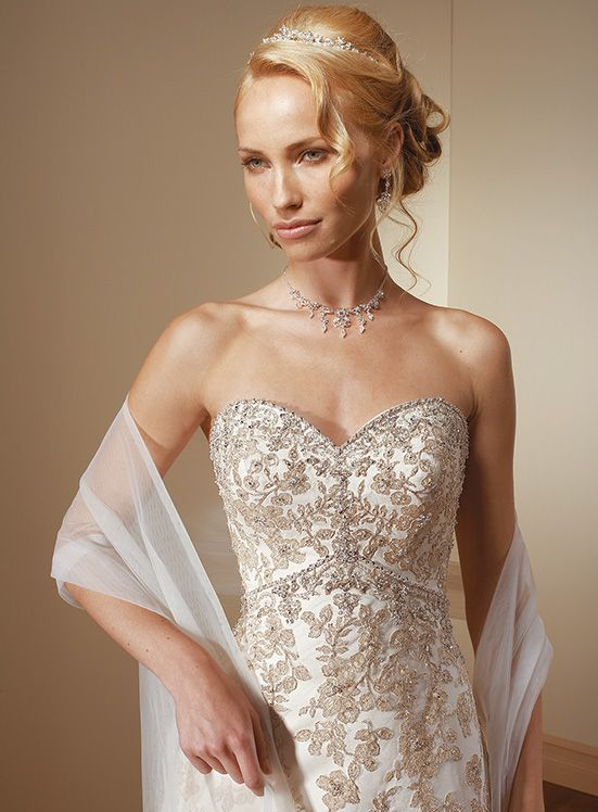 Close Up Allover Lace Wedding Gown