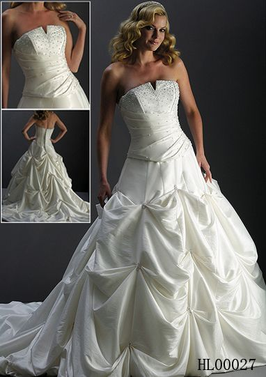 bridal pick up dress