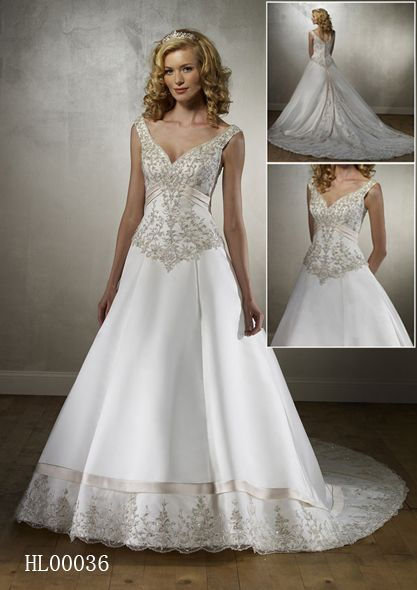 beaded embroidery wedding gown
