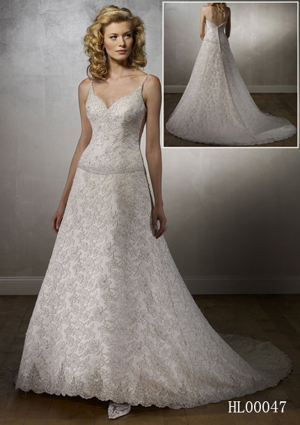 Allover Lace Bridal Gown
