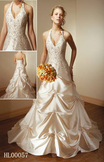 Lace halter wedding gown junglespirit Choice Image