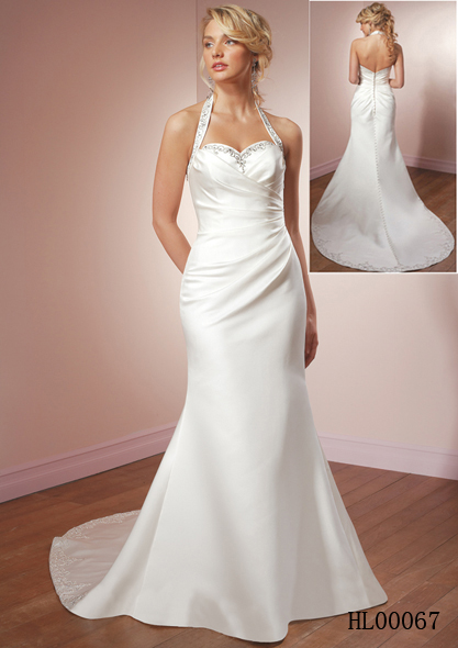 Halter wedding gown for Sweetheart halter wedding dress