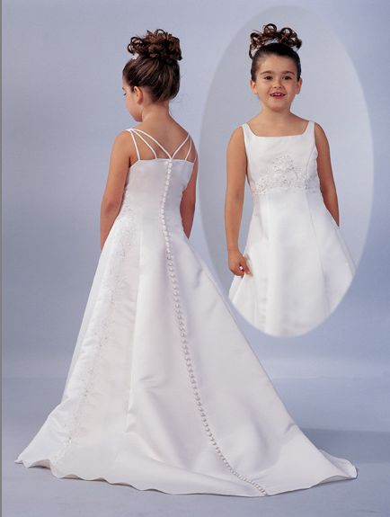 98b5132fedd6 flower girl dress with spaghetti strap back ...