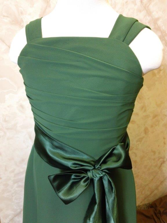 Hunter green chiffon flower girl dress
