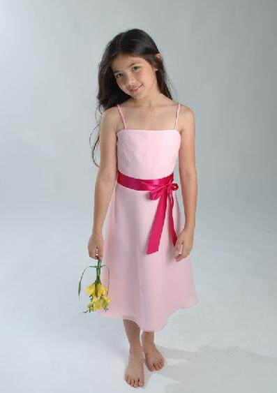 Mid-Length pink children party dresses