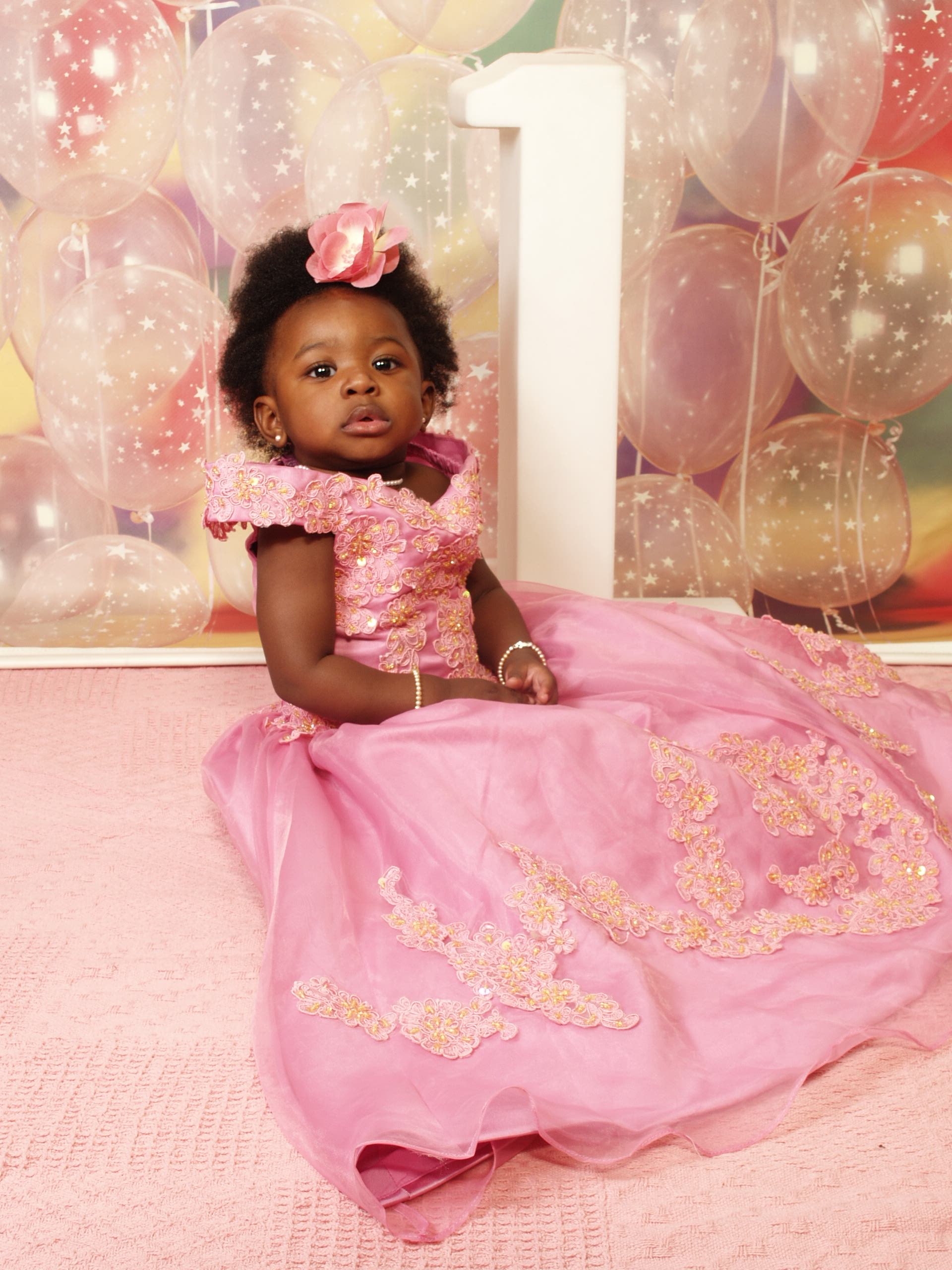 Little girls southern bell pageant gown.