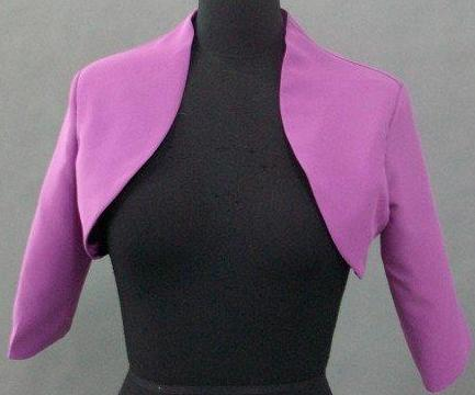 lavender wedding bolero jacket
