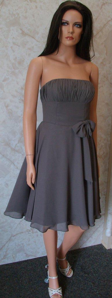 charcoal grey bridesmaid dress