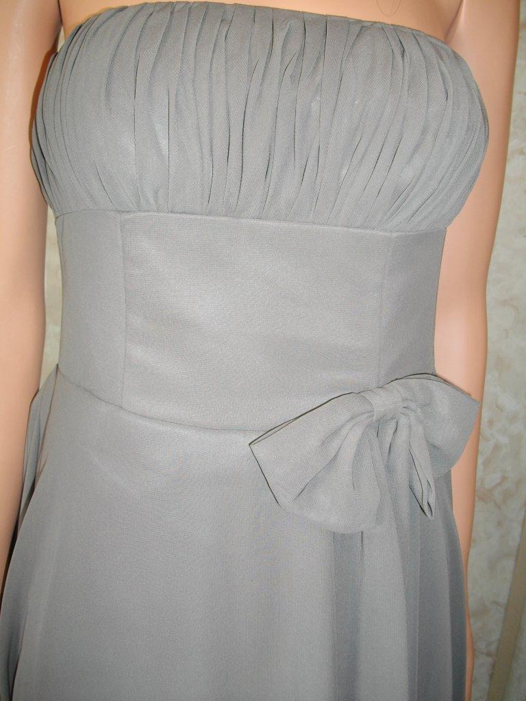 charcoal grey short bridesmaid dresses