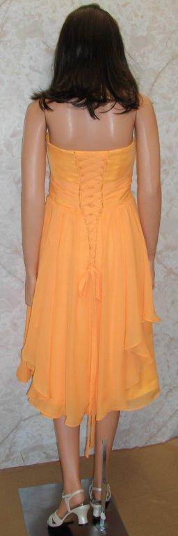 bridesmaid tangerine sunset colored dresses