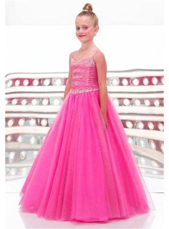 pink pageant dresses for little girls