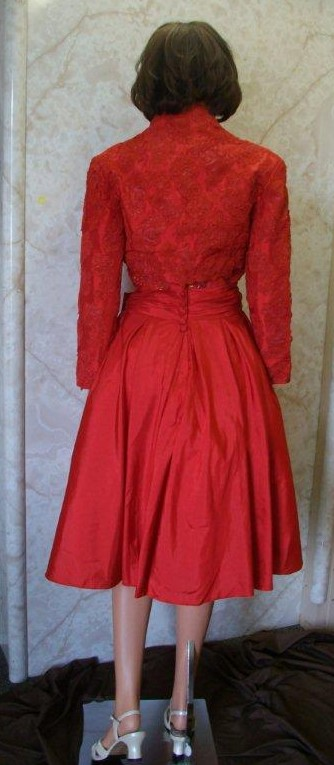 short red mother of the bride/groom dress
