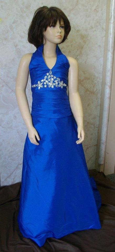 royal blue girls pageant dress