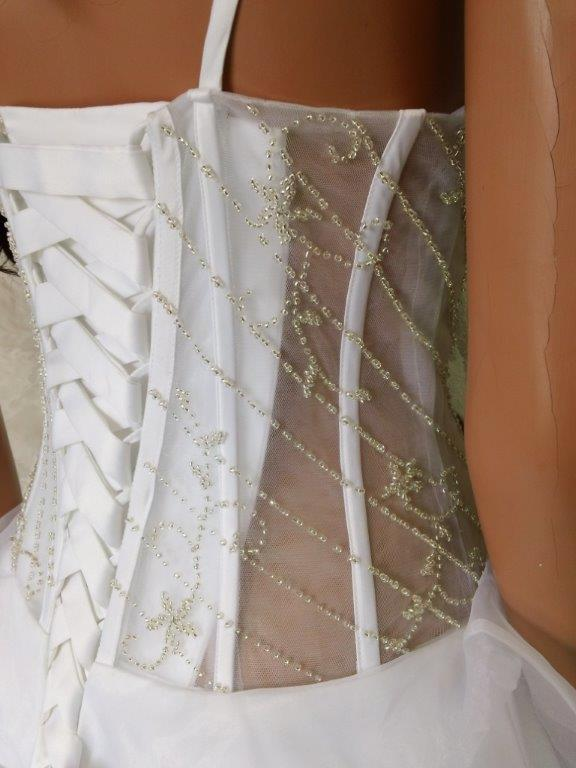 Sexy see through corset bridal gown for Corset lace up wedding dress