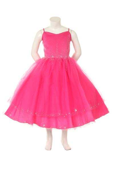 Ballerina style pageant dress with glittery crystal beads