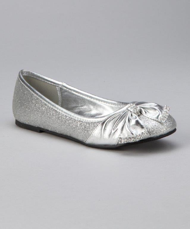 silver kids shoes, girls ...