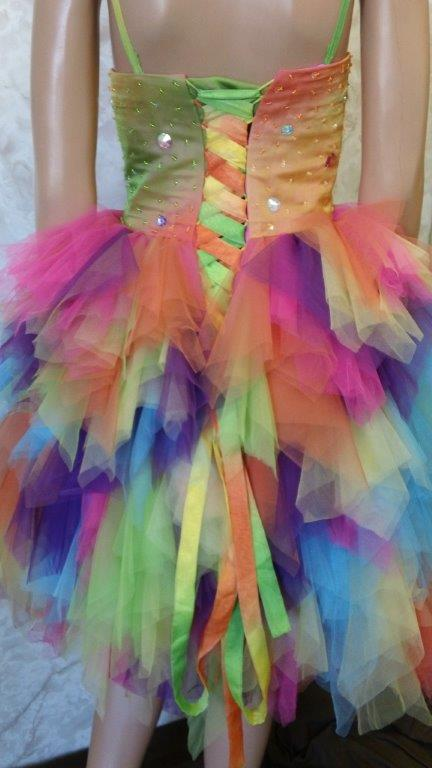 Multicolored tulle skirt this style of clothing for the fun fashion
