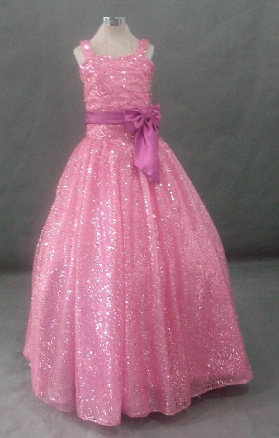 pink iridescent glitter mesh for pageant dress