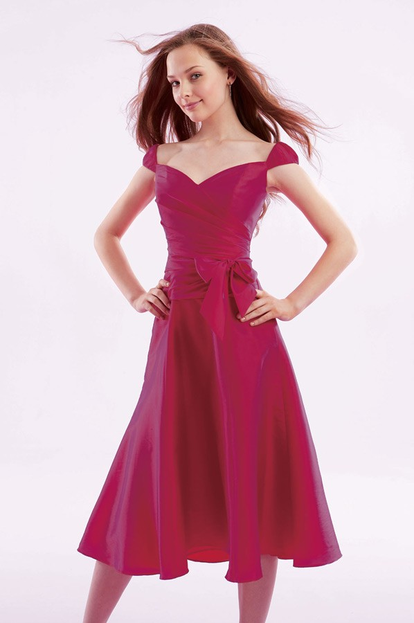 cap sleeve bridesmaid dresses
