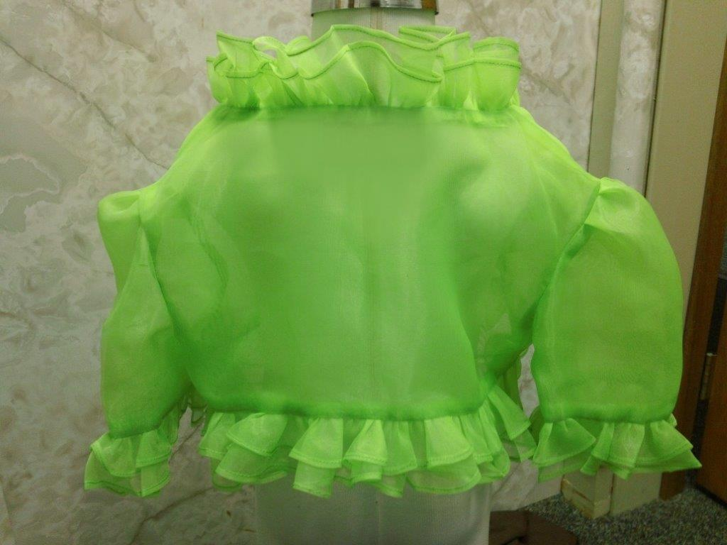 lime ruffle bolero jacket