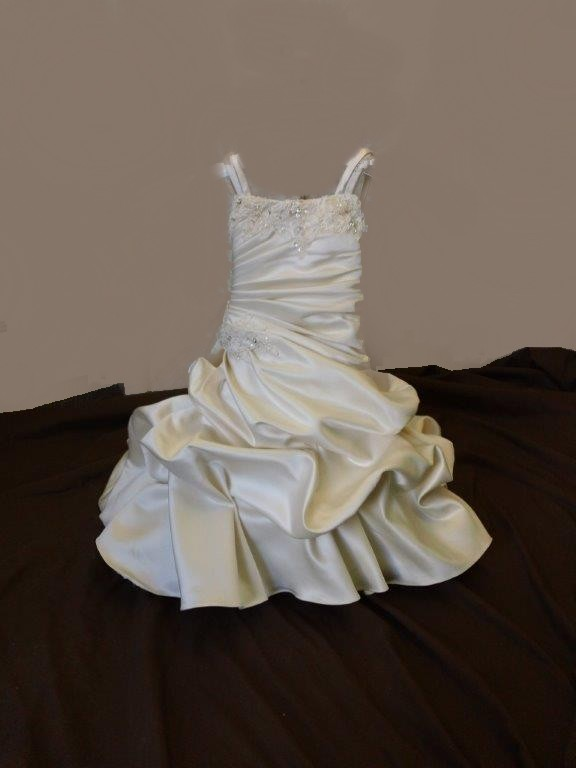 Infant Wedding Gown With Cascading Train ...