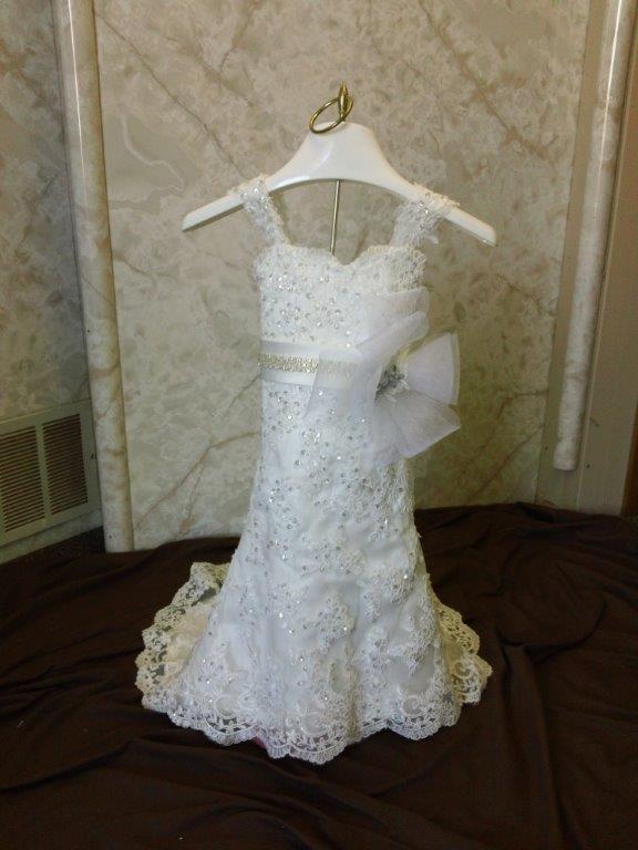 092ab347393 wedding flower girl dress size 12 months