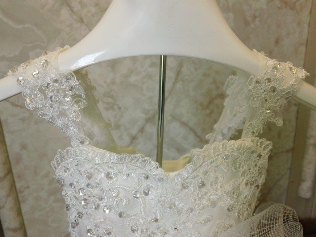 95762f87ebb wedding flower girl dress size 12 months. lace embellished straps ...