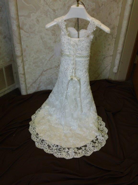 96b9d79e318 Toddler miniature wedding dress.