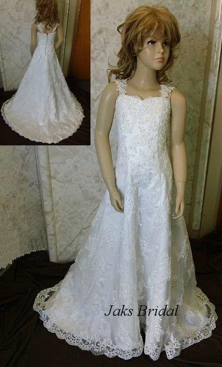 8aa964b93 Short Wedding dress for flower girls, ivory flower girl dresses ...
