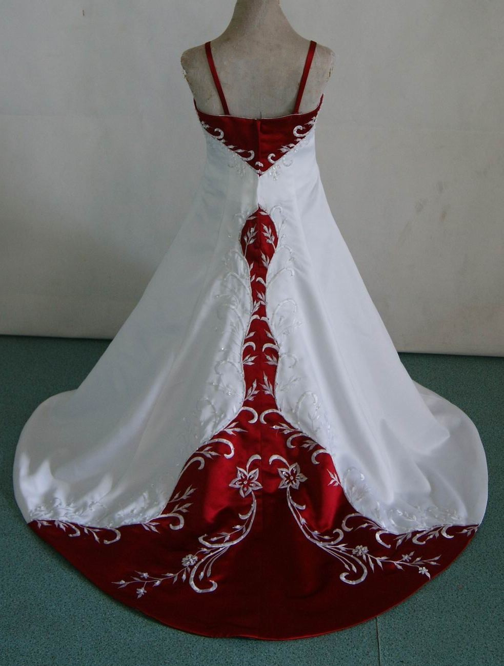 Red and white baby wedding dresses